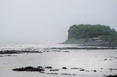 Indiańskie linie brzegowe i monsunu sezon Deszczowy dzień w India Irelands i brzegowy pojęcie piękna natura podczas monsunu Obrazy Royalty Free