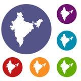 Indiańskie map ikony ustawiać Obraz Royalty Free