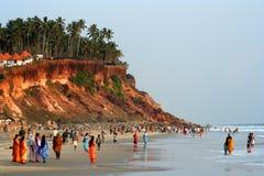 Indiańskie rodziny przy morzem obrazy stock