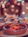 Indiańskiego subkontynentu kurczaka Autentyczny curry zdjęcie royalty free