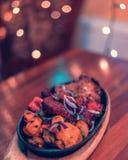Indiańskiego subkontynentu kurczaka Autentyczny curry fotografia stock