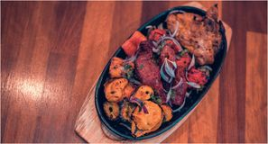 Indiańskiego subkontynentu kurczaka Autentyczny curry obraz royalty free