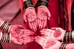 Indiańskiej małżeństwo tradyci hinduscy bangles obraz stock