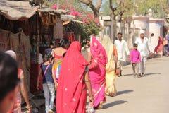 Indiańskiej wioski mały rynek w Rajasthan obrazy stock