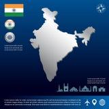 india översikt stock illustrationer