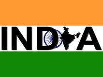 india översiktstext stock illustrationer