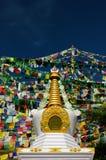 India. Kalaczakra temples in Dharamsala, McLeod Ganj Royalty Free Stock Image