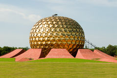 India. The Matrimandir at Auroville in Pondicherry (Puducherry) in South India Stock Photos