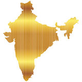 India. Isolated illustration of a map of India Royalty Free Stock Photo