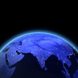 India 3d render. Maps from NASA imagery Stock Photo