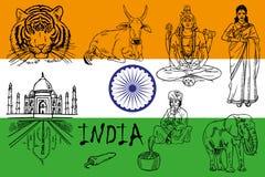india vektor illustrationer