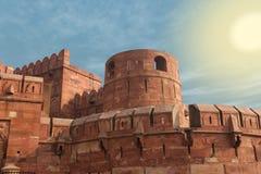 India, Agra, Czerwony fort (UNESCO światowe dziedzictwo) Fotografia Royalty Free