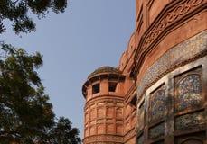 India, Agra, Czerwony fort (UNESCO światowe dziedzictwo) Obrazy Royalty Free