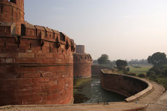 India, Agra, forte vermelho (património mundial do UNESCO) Fotos de Stock Royalty Free