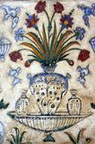 India, Agra: Old Fresco in a mausoleum Royalty Free Stock Images