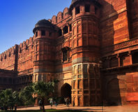 India. Agra. Red fort. Royalty Free Stock Image