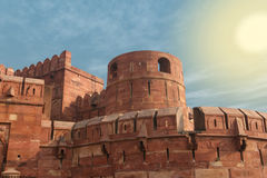 India, Agra, Red fort (UNESCO World Heritage) Royalty Free Stock Photography
