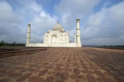 India, Agra, Taj Mahal. Memorial Royalty Free Stock Photo