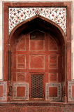 India, Agra: Taj Mahal mosque Stock Image
