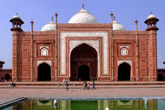 India, Agra: Taj Mahal mosque Stock Photo