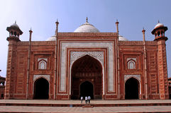 India, Agra: Taj Mahal mosque Royalty Free Stock Photo