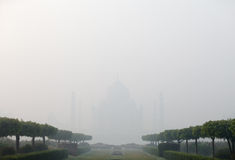 India, Agra, Taj Mahal in thick fog Royalty Free Stock Photos