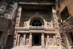 India, Ajanta cave. Buddhist temples forged in rocks in the Ajanta town in India, Maharashtra, India (Unesco Stock Photos