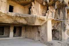 India, Ajanta cave. Buddhist temples forged in rocks in the Ajanta town in India, Maharashtra, India (Unesco Stock Images