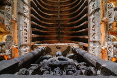 India - Ajanta caves Stock Photography