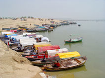 India - Allahabad - boats Stock Images