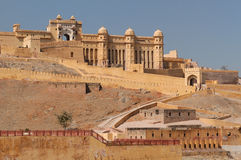 India, Amber Fort. Beautifoul Amber Fort near Jaipur city in India. Rajasthan Stock Photo
