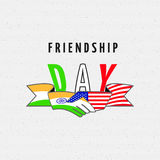 India America Friendship Stock Photography