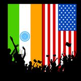 India-America relationship Stock Photography