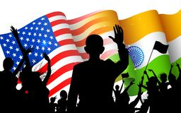 India-America relationship Royalty Free Stock Images