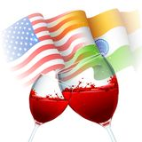 India-America relationship Stock Photos