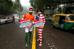 INDIA-ANIMAL-ADVOCATES-PROTEST Royalty Free Stock Images