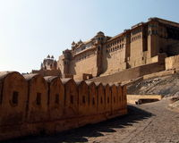 India Architecture Amber Fort Stock Photography