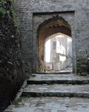 India Architecture Arched Door Kangra Fort Stock Photo