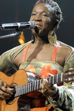 India.Arie performing live. Royalty Free Stock Image