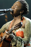 India.Arie performing live Stock Image