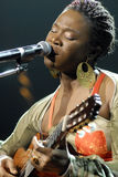 India.Arie performing live. Royalty Free Stock Images