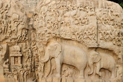 India - Arjunas Penance stock photo