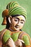 India art in Hawa Mahal, the Palace of Winds. Jaipur, Rajasthan, India (man Royalty Free Stock Images