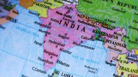India. Asia. Terrestrial Globe 4K stock video footage