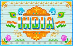 India Background. Illustration of India background in truck paint style Stock Photos