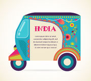 India - background with patterned rickshaw Royalty Free Stock Photography