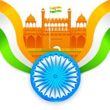 India background with Red Fort Royalty Free Stock Image