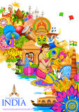 India background showing its culture and diversity Stock Photo