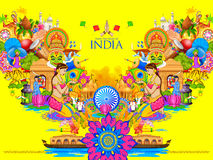 India background showing its culture and diversity Royalty Free Stock Photo