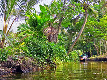 India. Backwaters of Kerala, Alappuzha, Alleppey, India Stock Images